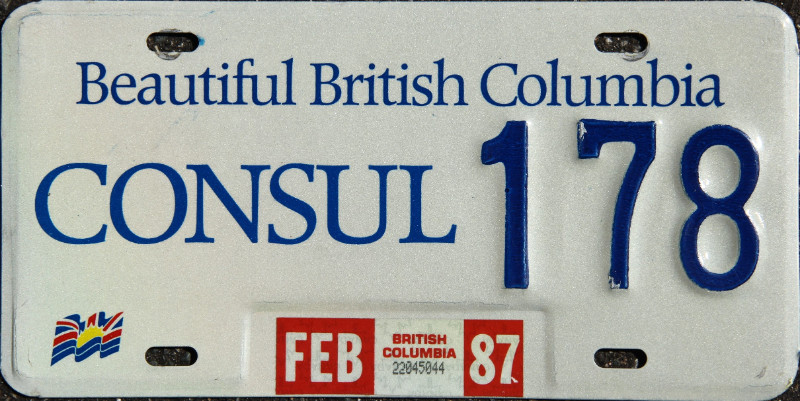 Easypl8s com consular corps license plates for sale for Consul license