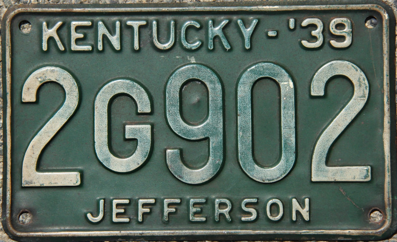 Kentucky 1938 License Plate Personalized Custom Car Auto Bike Motorcycle Moped
