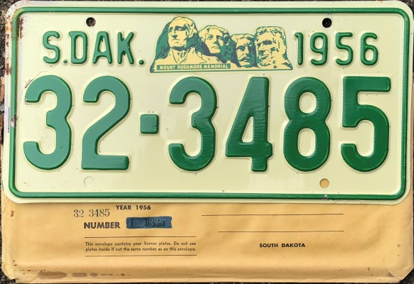 1956 License Plates for sale and trade and display at PlateVault