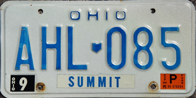 Ohio 1985 License Plate Personalized Custom Car Auto Bike Motorcycle Moped